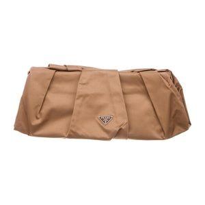 """Prada """"Raso"""" Pochette silk clutch bag w dust bag"""